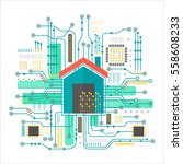 vector smart home concept.... | Shutterstock .eps vector #558608233
