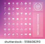 business and office icon set... | Shutterstock .eps vector #558608293