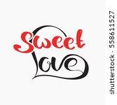 valentine's day label  holidays ... | Shutterstock .eps vector #558611527