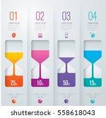 hourglass infographic design... | Shutterstock .eps vector #558618043