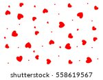 hearts background with... | Shutterstock . vector #558619567