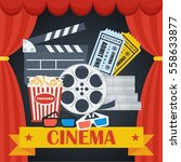 cinema concept poster template... | Shutterstock .eps vector #558633877