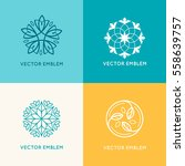 vector set of logo design... | Shutterstock .eps vector #558639757