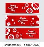 set of horizontal banners happy ... | Shutterstock .eps vector #558640033