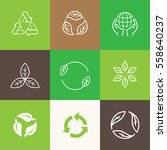 vector set of icons and emblems ... | Shutterstock .eps vector #558640237