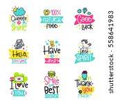 vector calligraphy with decor... | Shutterstock .eps vector #558641983