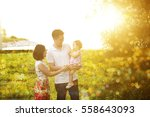 portrait of cheerful family...   Shutterstock . vector #558643093