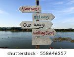 direction sign saying your way  ... | Shutterstock . vector #558646357