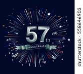 happy 57th anniversary. with... | Shutterstock .eps vector #558646903
