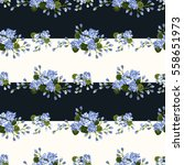 seamless cute pattern of small... | Shutterstock .eps vector #558651973