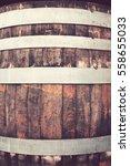 wine cask made of wood  a... | Shutterstock . vector #558655033