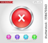 colored icon or button of cross ... | Shutterstock .eps vector #558670363