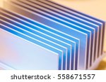 Close Up Of A Chipset Heatsink...