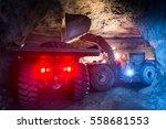 gold mining underground | Shutterstock . vector #558681553