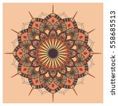 vintage colorful mandala with... | Shutterstock .eps vector #558685513