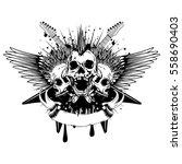 vector illustration three punk...