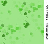 Abstract Green Shamrocks  ...