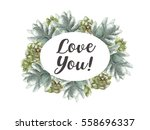 greeting card flowers... | Shutterstock . vector #558696337