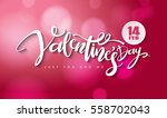 happy valentines day lettering... | Shutterstock .eps vector #558702043