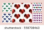 vector set of seamless patterns ... | Shutterstock .eps vector #558708463