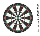 dart boards in realistic style. ... | Shutterstock .eps vector #558725503