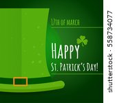 st. patrick's day greeting card ... | Shutterstock .eps vector #558734077