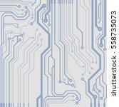 vector circuit board... | Shutterstock .eps vector #558735073