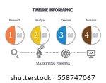 business minimal infographic... | Shutterstock .eps vector #558747067