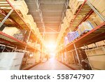 large hangar warehouse... | Shutterstock . vector #558747907