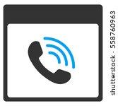 phone call calendar page glyph... | Shutterstock . vector #558760963