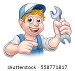 a mechanic or plumber handyman... | Shutterstock . vector #558771817