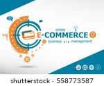 e commerce concept on target... | Shutterstock .eps vector #558773587