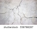 Cracked Concrete Wall Covered...