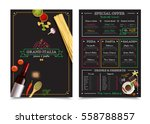 italian restaurant menu with... | Shutterstock .eps vector #558788857
