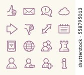 social media web icons | Shutterstock .eps vector #558795013