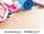 equipment and accessories with... | Shutterstock . vector #558801127
