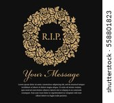 funeral card   r.i.p. text in... | Shutterstock .eps vector #558801823