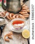 Fresh Homemade Sweet Tea With...