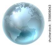 a world earth globe in a... | Shutterstock .eps vector #558808063