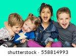 children smiling happiness... | Shutterstock . vector #558814993