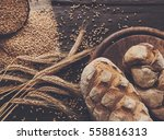 bread background. brown and... | Shutterstock . vector #558816313