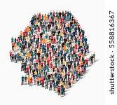 people map country sierra leone ... | Shutterstock .eps vector #558816367