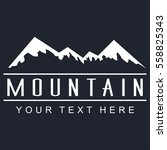 mountain vector icon on a dark... | Shutterstock .eps vector #558825343