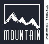 mountain vector icon on a dark... | Shutterstock .eps vector #558825637
