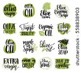 vector hand lettering olive...