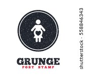 grunge post stamp. circle...   Shutterstock .eps vector #558846343