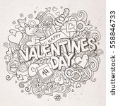 cartoon vector hand drawn... | Shutterstock .eps vector #558846733
