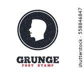 grunge post stamp. circle...   Shutterstock .eps vector #558846847
