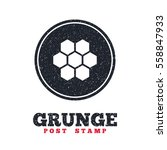 grunge post stamp. circle... | Shutterstock .eps vector #558847933