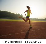 young fitness woman runner... | Shutterstock . vector #558852433